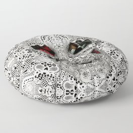 Lace Skull Light Floor Pillow