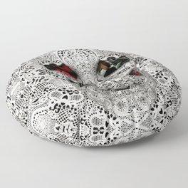 Lace Skull Light Floor Pillow