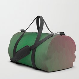 Red black Yellow Green Ombre Flames Duffle Bag