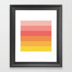 Warm Stripes Framed Art Print