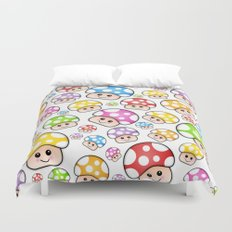Iddy Diddy Mushrooms  Duvet Cover
