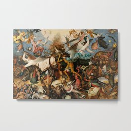 The Fall of the Rebel Angels, 1562 by Pieter Bruegel the Elder Metal Print
