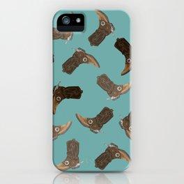 Cowboy Boots - pattern iPhone Case