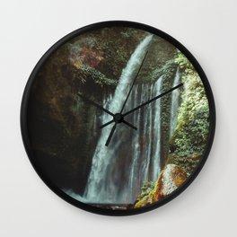 WATERFALL - Lombok, Indonesia Wall Clock
