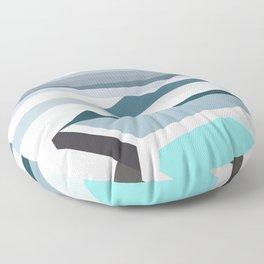 Geometric Bondi beach, Sydney Floor Pillow