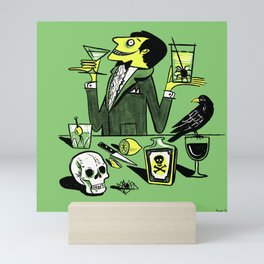 Drinks With The Mad Scientist Next Door Mini Art Print