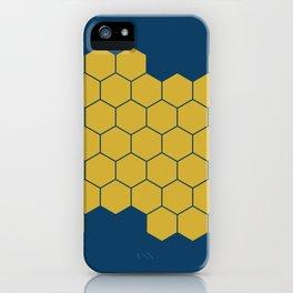 Honeycomb Blue iPhone Case