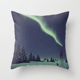 Winter Painting Throw Pillow