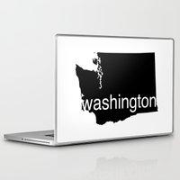 washington Laptop & iPad Skins featuring Washington by Isabel Moreno-Garcia