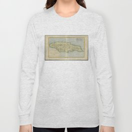 Vintage Map of Jamaica (1780) Long Sleeve T-shirt