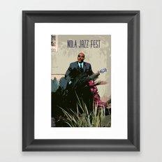New Orleans Jazz Fest Framed Art Print