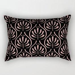Bohemian Pattern Black Rectangular Pillow