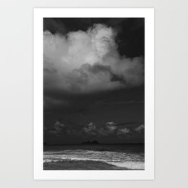Dark Island Day Art Print