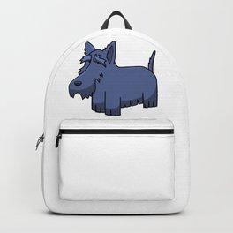 Cartoon Miniature Schnauzer Backpack