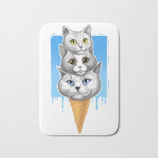 Ice-cream cats Bath Mat
