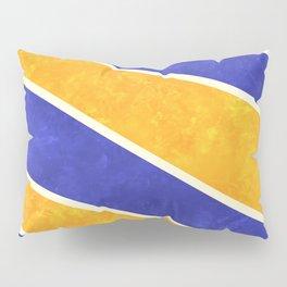 Blue and Orange Diagonal Stripes Pillow Sham
