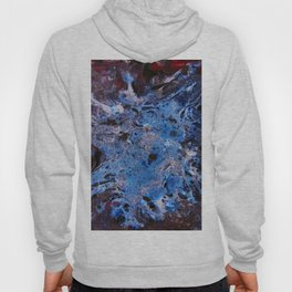 cosmic blue abstract paint Hoody