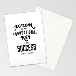 Action is the Foundational Key to all Success - Pablo Picasso Stationery Cards