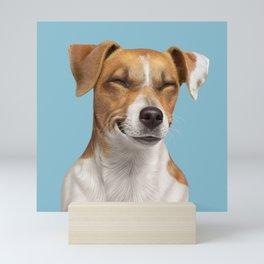 Smiling Dog (Jack Russell) Mini Art Print
