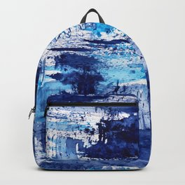Blue passion || watercolor Backpack