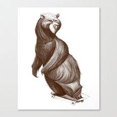 Skatepark Bear Canvas Print