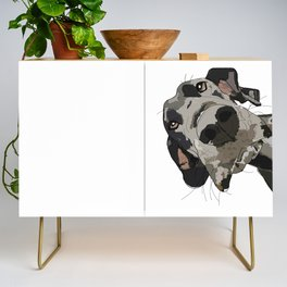 Great Dane dog in your face Credenza