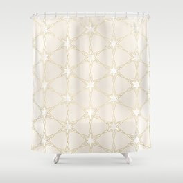 Celestial Pearl Gilded Stars Shower Curtain