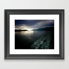 Light at the End of Darkness Framed Art Print