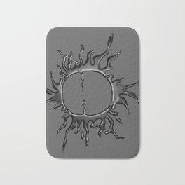 Liquid Sun on Grey Bath Mat