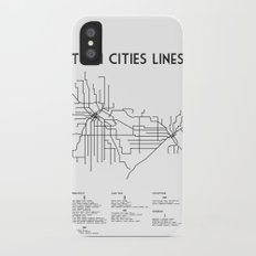 Twin Cities Lines Map Slim Case iPhone X