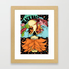 black bass Framed Art Print