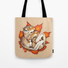 Autumn Squirrels Tote Bag