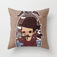 pirate Throw Pillows featuring Pirate by Jelot Wisang