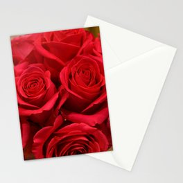 Lipstick Red Roses With Old Hollywood Glamour Stationery Cards