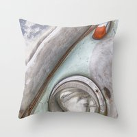 vw Throw Pillows featuring VW Beetle by David Turner