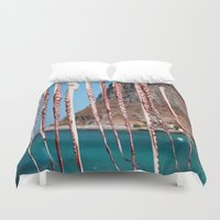 greece Duvet Covers featuring Greece #1 by lularound