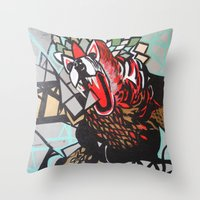 indie Throw Pillows featuring Indie Suarez by ClaireBerry