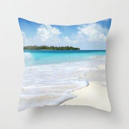 Paradise Ocean #waves Throw Pillow