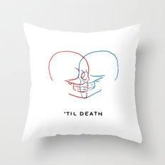 'Til Death (Minimal) Throw Pillow