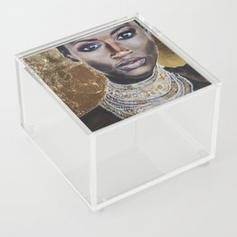 Graceful Ebony Acrylic Box
