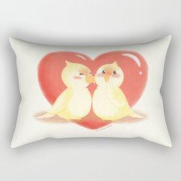 Lovebirds kiss Rectangular Pillow