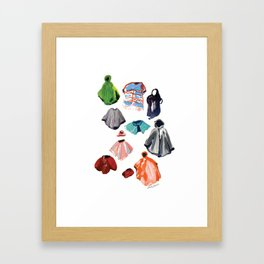 A Passel of Ponchos Framed Art Print