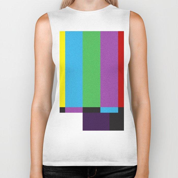 tv color bar Biker Tank