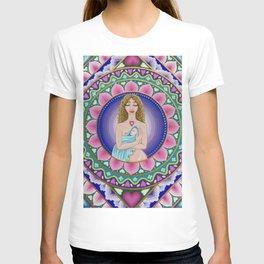 Mother and Child Lotus Mandala T-shirt