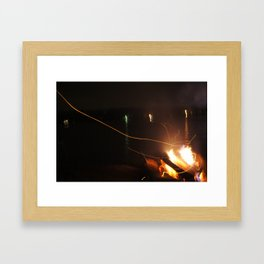 Fire Light Framed Art Print