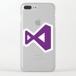 visual studio logo sticker C# Clear iPhone Case