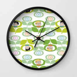 mabo & jimmy garden - white Wall Clock