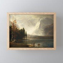 Albert Bierstadt Estes Park Colorado Whyte's Lake Framed Mini Art Print