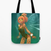 elf Tote Bags featuring Elf by xaxaxa