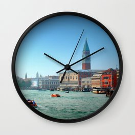 Approaching St Marks Square, Venice, Italy Wall Clock